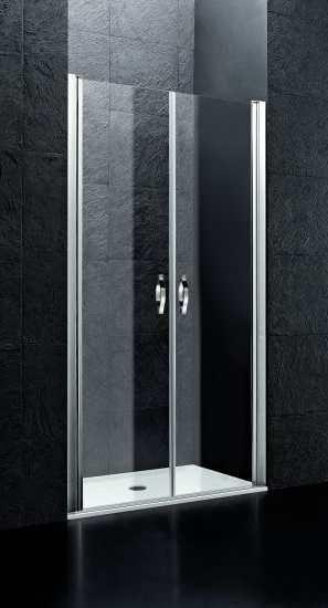 Fontano B2 100 Прозрачное стеклоДушевые ограждения<br>Две распашные двери. 6 мм прозрачное стекло.<br>