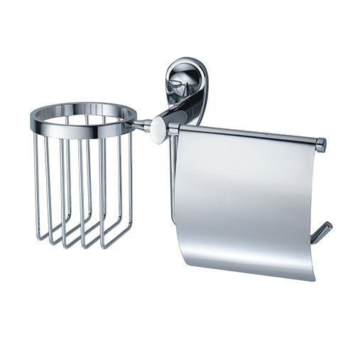 Main K-9259 ХромАксессуары для ванной<br>Wasser Kraft Main К-9259 держатель туалетной бумаги и освежителя. Цвет: Хром. Для изготовления держателя используется металл. Хромоникелевое покрытие, устойчивое к потускнению, легко очищается и придает аксессуарам зеркальный блеск. Уплотнительные пластиковые кольца из металла и стекла предназначены для надежного соединения.<br>
