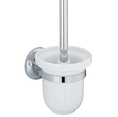 Rhein K-6227C ХромАксессуары для ванной<br>Wasser Kraft Rhein К-6227С щетка для унитаза подвесная. Цвет: Хром. Для изготовления щетки используется металл; Хромоникелевое покрытие (устойчиво к потускнению, легко очищается и придает аксессуарам зеркальный блеск); Уплотнительные пластиковые кольца (необходимы для плотного и бесшумного соединения, металла и стекла); Белоснежная керамика.<br>