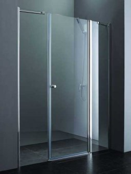 Elena B13 80+60/50 LДушевые ограждения<br>Одна распашная дверь с двумя неподвижными стеклами.<br>