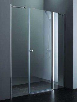 Elena B13 100+60/60 LДушевые ограждения<br>Одна распашная дверь с двумя неподвижными стеклами.<br>