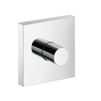 Starck 10972000 ХромСмесители<br>10972000 AX Starck ShowerCollection запорный вентиль (внешняя часть)<br>· состоит из: декоративной панели, рукоятки, гильзы<br>· при совместном монтаже (на расстоянии 1 см) с<br># 10751000, # 10651000, # 28491000,<br># 40871000, # 40872000, # 40873000 или<br># 40874000 рекомендуется использование скрытой<br>части # 10971180<br>· при свободном монтаже также могут быть<br>использованы скрытые части # 15973180,<br># 15974180 или # 15970180.<br>