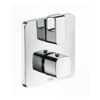 Starck 11733000  ХромСмесители<br>Термостатический смеситель для ванны Axor Starck 11733000 (внешняя часть). Наружная часть: розетка, рукоятка, гильза, функциональный блок, керамический, запорный/переключающий вентиль, термоэлемент. Рекомендуем: скрытая часть ibox universal # 01800180.<br>