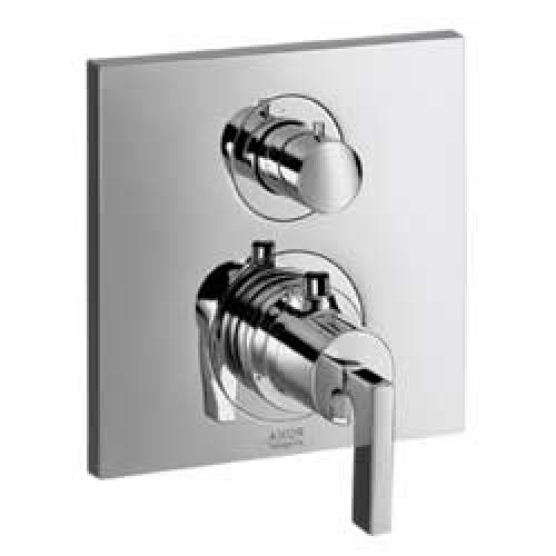 Citterio 39720000 ХромСмесители<br>Термостатический смеситель для ванны Axor Citterio 39720000 (внешняя часть). Наружная часть: розетка, рукоятка, гильза, функциональный блок, керамический, запорный/переключающий вентиль, термоэлемент.<br>