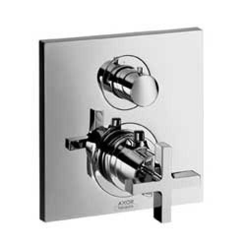 Citterio 39725000 ХромСмесители<br>Термостатический смеситель для ванны Axor Citterio 39725000 (внешняя часть). Наружная часть: розетка, рукоятка, гильза, функциональный блок, керамический, запорный/переключающий вентиль, термоэлемент. Рекомендуем: скрытая часть ibox universal # 01800180.<br>