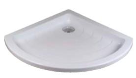RADIUS-90 LA  LA белыйДушевые поддоны<br>LA - это низкий армированный ламинатом поддон для установки в полу или на опорной конструкции. Отверстие для сифона имеет диаметр 90 мм.<br>
