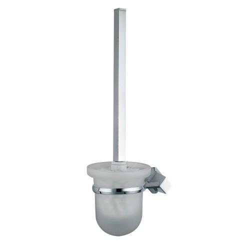 Aller K-1127 ХромАксессуары для ванной<br>Wasser Kraft Aller K-1127 щетка для унитаза подвесная. Цвет: Хром. Для изготовления щетки используется металл; Хромоникелевое покрытие (устойчиво к потускнению, легко очищается и придает аксессуарам зеркальный блеск); Уплотнительные пластиковые кольца (необходимы для плотного и бесшумного соединения, металла и стекла); Матовое стекло.<br>