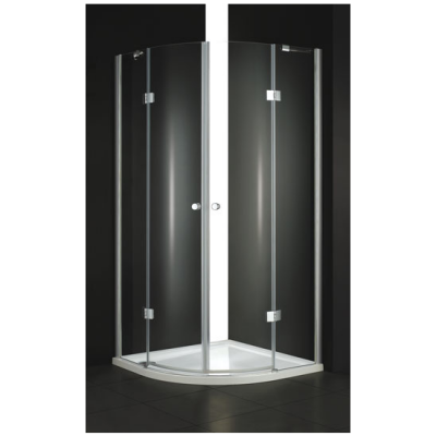 Verona R2 90x90 Текстурное стеклоДушевые ограждения<br>Радиальный, радиус 550 мм. Две распашные двери.<br>