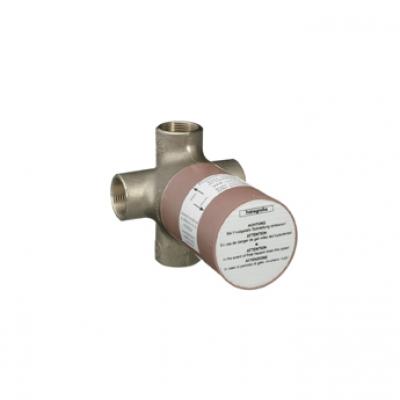 Ecostat 15930180 керамикаСмесители<br>Скрытая часть переключателя. Керамический узел переключения, манжета, 1 вход, 3 выхода, одновременно могут работать 2 потребителя воды, расход воды 65 л/мин, подходит для всех наружных частей Quattro.<br>