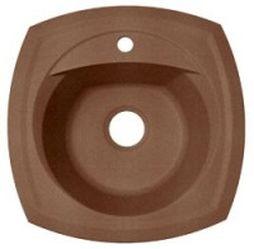 Корсика Коричневая коричневая FGКухонные мойки<br>Florentina Корсика врезная мойка для кухни в коричневом цвете. FG (Florengran) - материал на основе метакрилированной полиэфирной смолы и очень высокого содержания кварца и гранита (75 %). Обладает высокой устойчивостью к ударам, механическим нагрузкам, истиранию, химическим реактивам и термоударам.<br>Мойка с отверстием под смеситель, диаметр сливного отверстия: 3,5 (OKG), диаметр чаши: 400 мм., глубина чаши: 200 мм., подходит для прямого шкафа шириной 450 мм.<br>