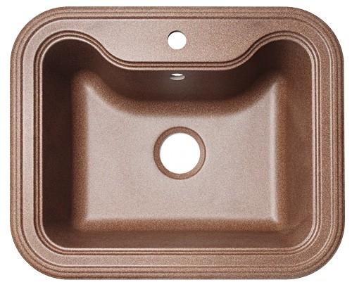 Крит-630 Коричневая коричневая FGКухонные мойки<br>Florentina Крит-630 врезная мойка для кухни в коричневом цвете. FG (Florengran) - материал на основе метакрилированной полиэфирной смолы и очень высокого содержания кварца и гранита (75 %). Обладает высокой устойчивостью к ударам, механическим нагрузкам, истиранию, химическим реактивам и термоударам.<br>Диаметр сливного отверстия: 3,5 (OKG), длина чаши: 515 мм., глубина чаши: 200 мм., подходит для прямого шкафа шириной 600 мм.<br>