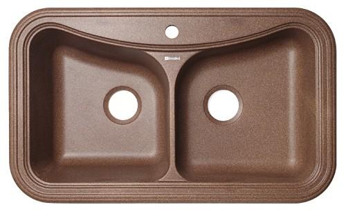 Крит-860 Коричневая коричневая FGКухонные мойки<br>Florentina Крит-860 врезная мойка для кухни с двумя чашами в коричневом цвете. FG (Florengran) - материал на основе метакрилированной полиэфирной смолы и очень высокого содержания кварца и гранита (75 %). Обладает высокой устойчивостью к ударам, механическим нагрузкам, истиранию, химическим реактивам и термоударам.<br>Мойка с отверстием под смеситель. Диаметр сливного отверстия: 3,5 (OKG), длина левой чаши: 385 мм., ширина левой чаши: 420 мм., глубина левой чаши: 200 мм., глубина правой чаши: 110 мм. Мойка подходит для прямого шкафа шириной 800 мм.<br>