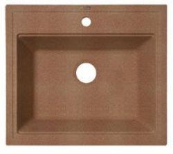 Липси-600 Коричневая коричневая FGКухонные мойки<br>Florentina Липси-600 врезная мойка для кухни в коричневом цвете. FG (Florengran) - материал на основе метакрилированной полиэфирной смолы и очень высокого содержания кварца и гранита (75 %). Обладает высокой устойчивостью к ударам, механическим нагрузкам, истиранию, химическим реактивам и термоударам.<br>Диаметр сливного отверстия: 3,5 (OKG), длина чаши: 520 мм., ширина чаши: 380 мм., глубина чаши: 200 мм., подходит для прямого шкафа шириной 600 мм.<br>