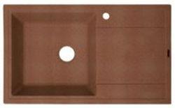 Липси-860 Коричневая коричневая FGКухонные мойки<br>Florentina Липси-860 врезная мойка для кухни в коричневом цвете. FG (Florengran) - материал на основе метакрилированной полиэфирной смолы и очень высокого содержания кварца и гранита (75 %). Обладает высокой устойчивостью к ударам, механическим нагрузкам, истиранию, химическим реактивам и термоударам.<br>Диаметр сливного отверстия: 3,5 (OKG), длина чаши: 440 мм., ширина чаши: 430 мм., глубина чаши: 200 мм., подходит для прямого шкафа шириной 500 мм.<br>