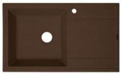 Липси-860 Мокко мокко FSmКухонные мойки<br>Florentina Липси-860 врезная мойка для кухни в цвете мокко. FSm (Florensil metallic) - композиционный материал обладает высокой устойчивостью к ударам, механическим нагрузкам, истиранию, химическим реактивам и термоударам. При этом обладает характерным металлическим блеском и прекрасно сочетается с бытовой техникой из нержавеющей стали, хромированными элементами мебели, смесителями и др. Особо устойчив к царапинам.<br>Диаметр сливного отверстия: 3,5 (OKG), длина чаши: 440 мм., ширина чаши: 430 мм., глубина чаши: 200 мм., подходит для прямого шкафа шириной 500 мм.<br>