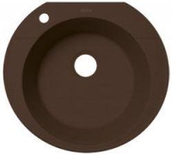 Эльба Мокко мокко FSmКухонные мойки<br>Florentina Эльба врезная мойка для кухни в цвете мокко. FSm (Florensil metallic) - композиционный материал обладает высокой устойчивостью к ударам, механическим нагрузкам, истиранию, химическим реактивам и термоударам. При этом обладает характерным металлическим блеском и прекрасно сочетается с бытовой техникой из нержавеющей стали, хромированными элементами мебели, смесителями и др. Особо устойчив к царапинам.<br>Диаметр сливного отверстия: 3,5 (OKG), диаметр чаши: 430 мм., глубина чаши: 200 мм., подходит для прямого шкафа шириной 500 мм.<br>