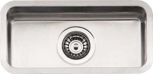 Kansas  Small стальнаяКухонные мойки<br>Reginox Kansas Small цельнотянутая мойка из нержавеющей стали. <br>Поверхность мойки: полировка, тип установки: интегрированная. <br>Диаметр сливного отверстия: 3,5 (OKG), длина чаши: 180 мм., ширина чаши: 400 мм., глубина чаши: 170 мм. <br>Ширина шкафа: 400 мм.<br>