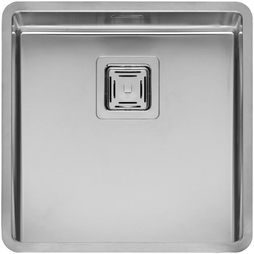 Texas Cuadrat стальнаяКухонные мойки<br>Reginox Texas Cuadrat цельнотянутая мойка из нержавеющей стали с радиусом углов чаши 10 мм.<br>Поверхность мойки: полировка, тип установки: интегрированная, перелив расположен в чаше.<br>Диаметр сливного отверстия: 3,5 (OKG),  длина чаши: 403 мм., ширина чаши: 403 мм., глубина чаши: 180 мм. <br>Толщина стали 1,2 мм. <br>Ширина шкафа: 450 мм.<br>