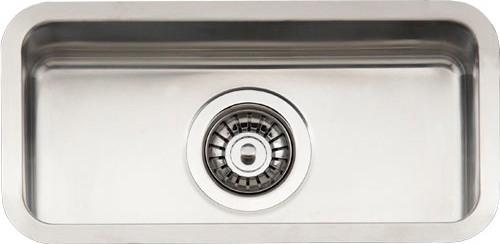 Ohio Small  стальнаяКухонные мойки<br>Reginox Ohio Small цельнотянутая мойка из нержавеющей стали. <br>Поверхность мойки: полировка, тип установки: интегрированная, перелив расположен в чаше.<br>Диаметр сливного отверстия: 3,5 (OKG), длина выреза под мойку: 200 мм., ширина выреза под мойку: 420 мм.,  длина чаши: 180 мм., ширина чаши: 400 мм., глубина чаши: 145 мм.<br>Толщина стали 1,2 мм.<br>Ширина шкафа: 400 мм.<br>
