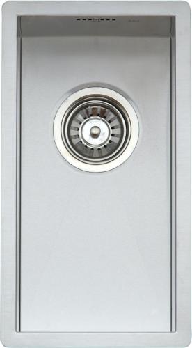 Ontario Small  стальнаяКухонные мойки<br>Reginox Ontario Small кухонная мойка из нержавеющей стали. Выполнена методом сверхточной лазерной сварки.<br>Поверхность мойки: полировка, тип установки: интегрированная, перелив расположен в чаше.<br>Диаметр сливного отверстия: 3,5 (OKG), длина выреза под мойку: 220 мм., ширина выреза под мойку: 420 мм., длина чаши: 200 мм., ширина чаши: 400 мм., глубина чаши: 190 мм.<br>Толщина стали 1,2 мм.<br>Ширина шкафа: 400 мм.<br>