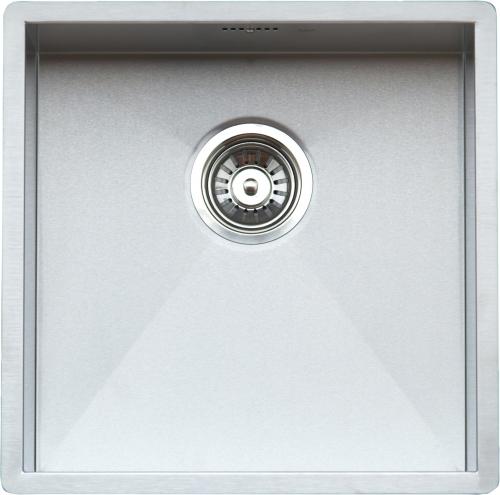 Ontario Cuadrat  стальнаяКухонные мойки<br>Reginox Ontario Cuadrat  кухонная мойка из нержавеющей стали. Выполнена методом сверхточной лазерной сварки.<br>Поверхность мойки: полировка, тип установки: интегрированная, перелив расположен в чаше.<br>Диаметр сливного отверстия: 3,5 (OKG), длина выреза под мойку: 400 мм., ширина выреза под мойку: 400 мм., длина чаши: 400 мм., ширина чаши: 400 мм., глубина чаши: 185 мм.<br>Толщина стали 1,2 мм.<br>Ширина шкафа: 450 мм.<br>