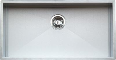 Ontario Large  стальнаяКухонные мойки<br>Reginox Ontario Large  кухонная мойка из нержавеющей стали. Выполнена методом сверхточной лазерной сварки.<br>Поверхность мойки: полировка, тип установки: интегрированная, перелив расположен в чаше.<br>Диаметр сливного отверстия: 3,5 (OKG), длина выреза под мойку: 800 мм., ширина выреза под мойку: 400 мм., длина чаши: 800 мм., ширина чаши: 400 мм., глубина чаши: 190 мм.<br>Толщина стали 1,2 мм.<br>Ширина шкафа: 900 мм.<br>