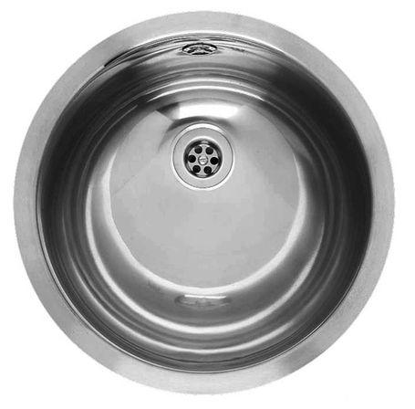 Amazone  двусторонняя зеркальная полировкаРаковины<br>Reginox Amazone  умывальник для ванной комнаты, из нержавеющей стали, идеальная двусторонняя зеркальная полировка умывальника для установки в открытую столешницу.<br>Подходит для шкафа шириной 450 мм.<br>Сливное отверстие &amp;#216;1,5 (OSP), перелив в чаше.<br>Без отверстия под смеситель.<br>Диаметр мойки: 390 мм.<br>Размеры выреза под мойку: 370 x 370 мм.<br>Диаметр чаши: &amp;#216; 340 мм<br>Глубина чаши: 155 мм.<br>Толщина стали: 1,0 мм.<br>