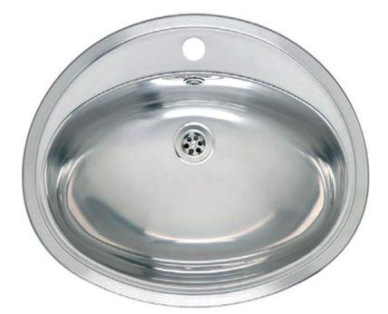 Pacific двусторонняя зеркальная полировкаРаковины<br>Reginox Pacific умывальник для ванной комнаты, из нержавеющей стали, идеальная двусторонняя зеркальная полировка умывальника для установки в открытую столешницу.<br>Подходит для шкафа шириной 600 мм.<br>Сливное отверстие &amp;#216;1,5 (OSP), перелив в чаше.<br>С отверстием под смеситель.<br>Габаритные размеры: 570 x 480 мм.<br>Размеры выреза под мойку: 550 x 460 мм.<br>Размеры чаши: 505 x 340 мм<br>Глубина чаши: 165 мм.<br>Толщина стали: 1,0 мм.<br>