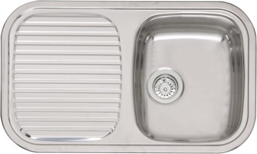 Regent 10 Lux OKG полированнаяКухонные мойки<br>Reginox Regent 10 Lux OKG врезная мойка из нержавеющей стали.<br>Поверхность полированная.<br>Подходит для шкафа шириной 450 мм.<br>Сливное отверстие &amp;#216; 3,5 (OKG), перелив в чаше.<br>Без отверстия под смеситель.<br>Габаритные размеры: 805 x 480 мм.<br>Размеры выреза под мойку: 785 x 460 мм.<br>Размеры чаши: 340 x 400 мм.<br>Глубина чаши: 170 мм.<br>Толщина стали: 0,8 мм.<br>