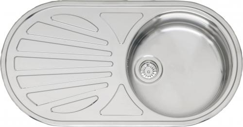 Galicia Lux OKG полированнаяКухонные мойки<br>Reginox Galicia Lux OKG врезная мойка из нержавеющей стали.<br>Поверхность полированная.<br>Подходит для шкафа шириной 450 мм.<br>Без отверстия под смеситель.<br>Сливное отверстие &amp;#216; 3,5 (OKG), перелив в чаше.<br>Габаритные размеры: 855 x 445 мм.<br>Размеры выреза под мойку: 835 x 425 мм.<br>Размеры чаш: &amp;#216; 370  мм.<br>Глубина чаши: 140 мм.<br>Толщина стали: 0,8 мм.<br>