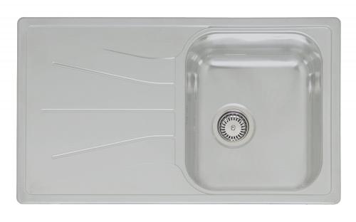 Diplomat 10 Linen матовое рифлениеКухонные мойки<br>Reginox Diplomat 10 Linen врезная мойка из нержавеющей стали.<br>Поверхность антиграфик (матовое рифление).<br>Подходит для шкафа шириной 400 мм.<br>Без отверстия под смеситель.<br>Сливное отверстие &amp;#216; 3,5(OKG), перелив в чаше.<br>Габаритные размеры: 860 x 500 мм.<br>Размеры выреза под мойку: 840 x 480 мм.<br>Размеры чаши: 360 x 420 мм.<br>Глубина чаши: 180 мм.<br>Толщина стали: 0,9 мм.<br>