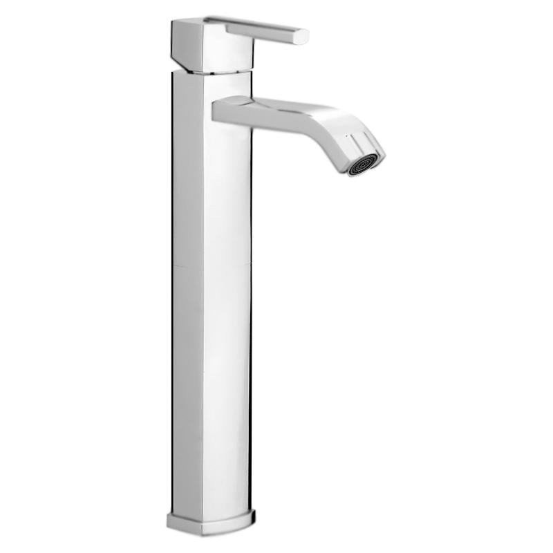 Azeta AZ830402 ХромСмесители<br>Высокий смеситель для раковины и раковины-чаши Webert Azeta AZ830402015 однорычажный, устанавливаемый в одно отверстие.<br><br>Покрытие: глянцевый хром.<br>Материал: качественная латунь с минимальным процентом свинца: &lt;0.2%.<br>Защита от царапин, влаги и воздействия окружающей среды.<br>Состав материала соответствует международным нормам.<br>Фиксированный излив длиной 13 см.<br>Высота смесителя: 33 см.<br>Аэратор M22x1.<br>Керамический картридж 25 мм.<br>Гибкая подводка G1/2 из нержавеющей стали длиной 70 см.<br><br>