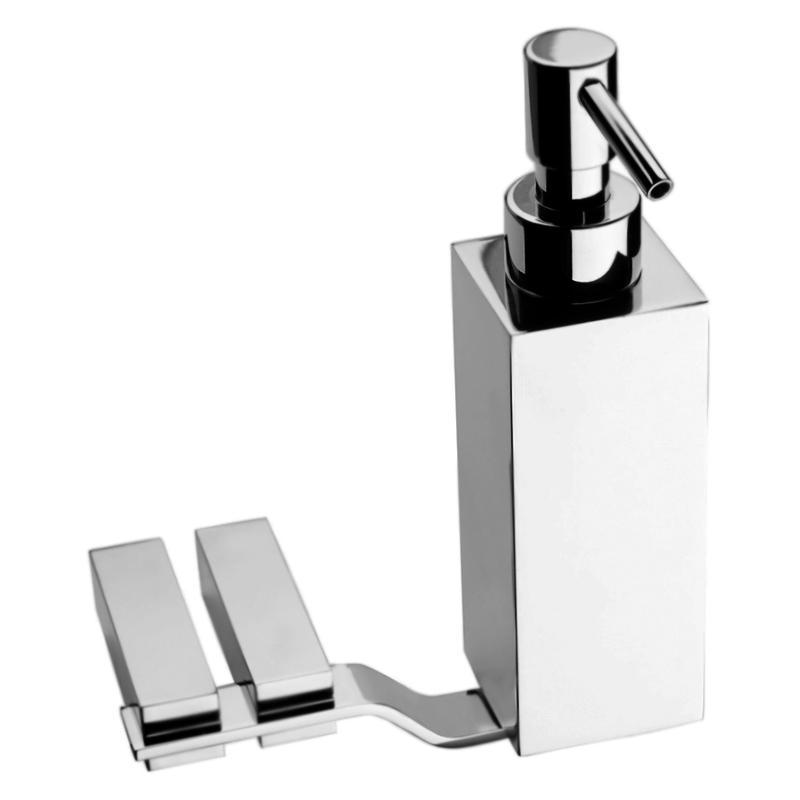 Wolo WO500201 Хром глянцевыйАксессуары для ванной<br>Дозатор жидкого мыла Webert Wolo WO500201015 с настенным держателем.<br><br>Материал: высококачественная латунь.<br>Покрытие: глянцевый хром.<br>Высота: 18,4 см.<br><br>