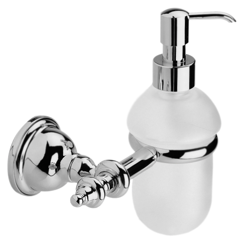 Ottocento AM500201 БронзовыйАксессуары для ванной<br>Дозатор жидкого мыла Webert Ottocento AM500201065 с настенным держателем.<br><br>Цвет помпы и держателя: бронза.<br>Материал помпы и держателя: высококачественная латунь.<br>Материал емкости: матовое стекло.<br>Высота: 19,6 см.<br><br>