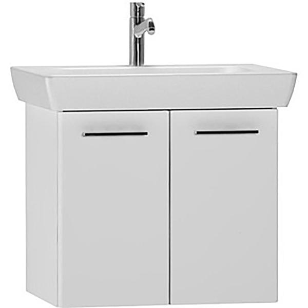 S 20 65 подвесная БелаяМебель для ванной<br>Тумба с раковиной Vitra S 20 54782.<br>Современный и универсальный стиль тумбы дополнит интерьер любой ванной комнаты.<br>Размер: 65х46х50 см, размер раковины: 57х42 см. <br>В комплекте поставки:<br>тумба,<br>раковина 65 см 5522B003-0001 с переливом.<br>