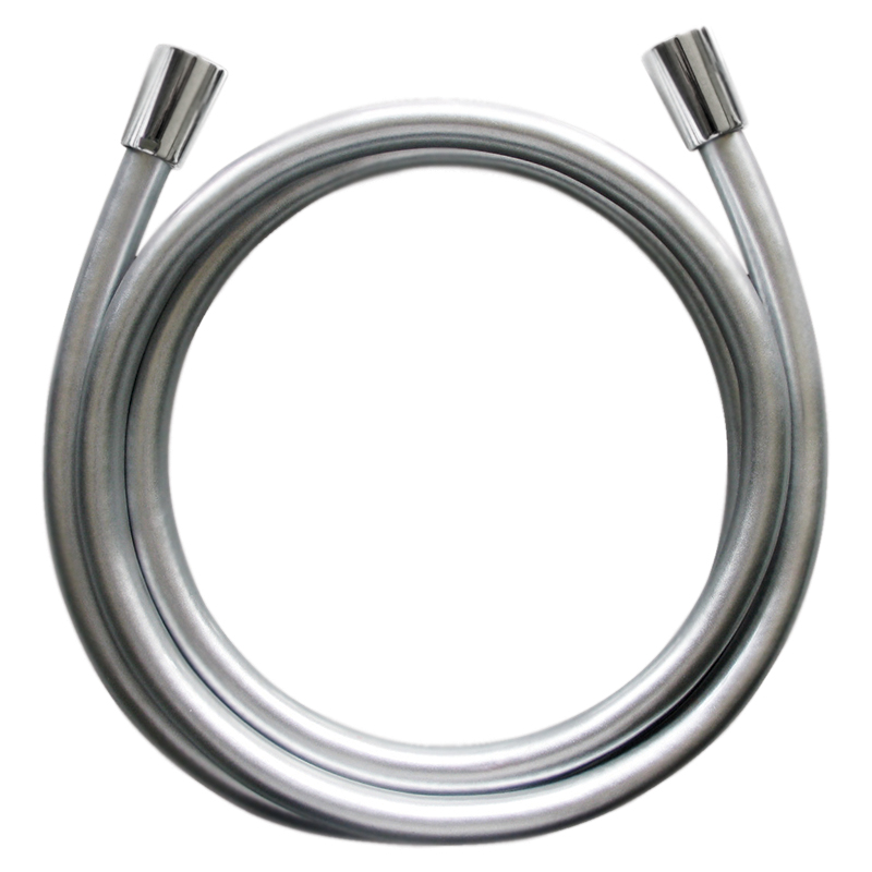 175 F0400100 серыйДушевые гарнитуры<br>Душевой шланг АМ РМ 175 F0400100 очень гибкий, с гладкой поверхностью.<br><br>Материал: PVD.<br>Длина: 1750 мм.<br>С защитой от перегибов.<br>Простота в уборке.<br>Шарнирное соединение для лейки.<br>Стандарт подключения: G1/2.<br>