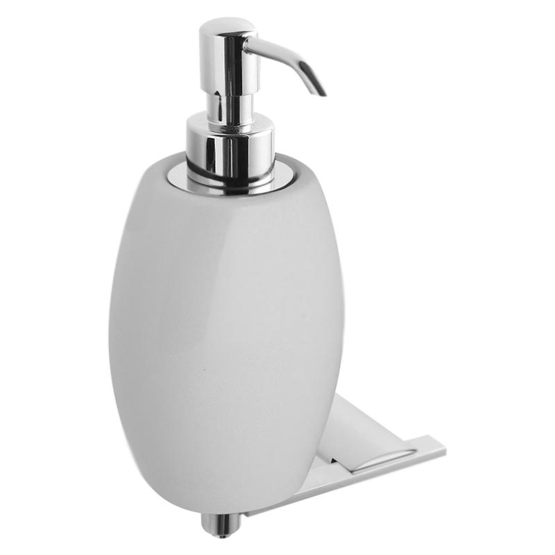 Дозатор жидкого мыла Webert Aria AI500201 Хром/белый дозатор жидкого мыла grohe contemporary встраиваемый в столешницу хром 40536000