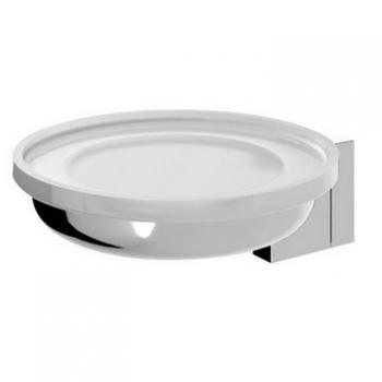 Admire A1034200 настенная ХромАксессуары для ванной<br>Стеклянная мыльница Admire A1034200, с настенным держателем из монохромной латуни марки Grade-AH59. Цвет хром.<br>
