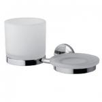 Serenity A40344200 ХромАксессуары для ванной<br>Стеклянный стакан и мыльница AM PM Serenity A40344200, с настенным держателем.<br>