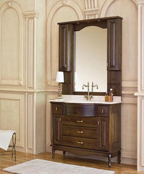 Capan C (D) напольная 120C (D)Мебель для ванной<br>Аллигатор Capan 120C (D). Покрытие трёхслойное влагостойкое, тонированный лак. Столешница из натурального мрамора, фаянсовая раковина Roca или Gustavsberg. Петли со встроенными доводчиками. Размеры тумбы: 1200 x 560 x 850 мм. В комплект поставки входят: тумба, раковина, столешница.<br>