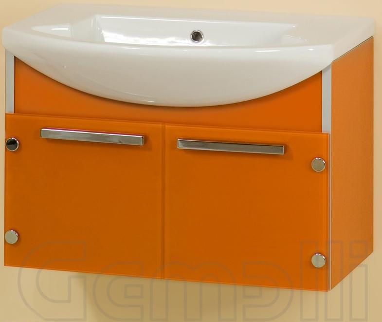 Glass One 108 подвесная БежевыйМебель для ванной<br>В цену входит тумба подвесная Gemelli Glass One 108, укомплектованная раковиной Logic. Все комплектующие (зеркала, пеналы, полупеналы, полки) приобретаются отдельно.<br>