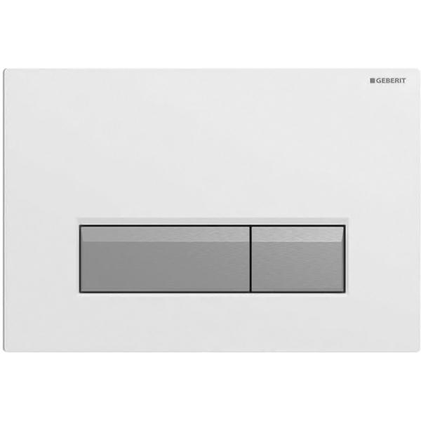 Sigma 40 115.600.KQ.1 Белый/алюминийИнсталляции<br>Клавиша смыва Geberit Sigma 40 115.600.KQ.1 для работы с инсталляцией или с бачком скрытого монтажа для унитаза.<br><br>Цвет корпуса: белый.<br>Цвет кнопок: матовый алюминий.<br>Материал корпуса: пластик.<br>Материал кнопок: алюминий.<br>Установка: фронтальная.<br>Управление: механическое.<br>Для систем двойного смыва.<br>Для монтажа в стены с толщиной облицовки максимум 6 см.<br>Размеры: 26,6 x 18,2 x 2,2 см.<br><br>Функция очисткивоздуха:<br><br>Длянепосредственнойочисткивоздуха.<br>Нейтрализация запаха посредством фильтра с активированным углём.<br>Индикатор-светодиод замены фильтра.<br>Напряжение: 230 V.<br>Частота тока: 50 Hz.<br>Рабочее напряжение: 12 V.<br>Мощность: 3 Вт.<br>Скорость забора воздуха: 8,5 м3/ч.<br><br>В комплекте поставки:<br><br>Кнопка смыва.<br>Монтажная рамка с поворотным механизмом.<br>Два держателя крепления рамки.<br>Толкатели привода смыва.<br>Блок вентиляции и управления.<br>Блок питания с индикатором-светодиодом.<br>Кабельное соединение со штепселем.<br>Фильтр с активированным углём, тип 1.<br>Защитная крышка.<br>Контейнер для дезодорирующих кубиков.<br>Защитный элемент: антиконденсат трубки подвода.<br><br>