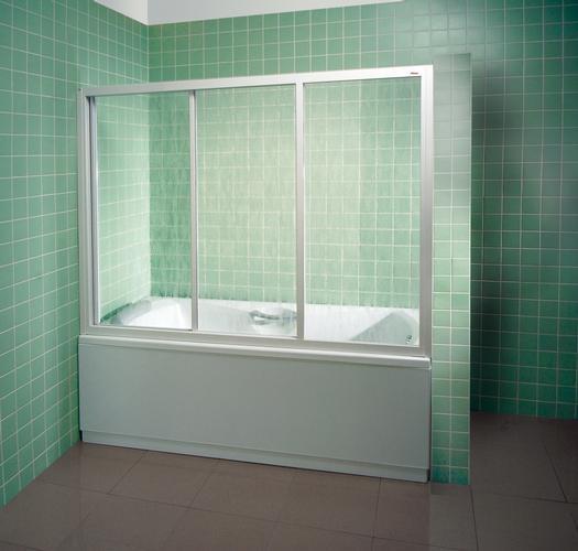 Шторка для ванны Ravak AVDP3-120 сатин+тpанспаpент фото