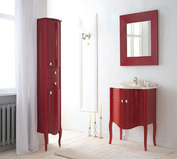 Royal Комфорт A(М) Красная напольная 70A (M)Мебель для ванной<br>Аллигатор Royal Комфорт 70A (М). Цвет красный, покрытие трёхслойное влагостойкое, тонированный лак. Столешница из черного гранита, мрамора крема нова или имперадор лайт, фаянсовая раковина Roca или Gustavsberg. Петли с доводчиками. Размер тумбы: 700х555х850 мм. В комплект поставки входят: тумба, раковина, столешница.<br>