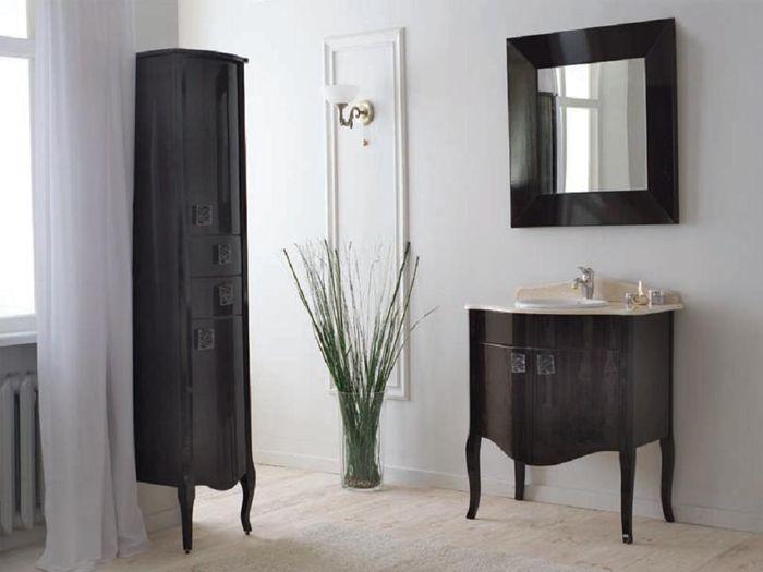 Royal Комфорт A(М) Венге напольная 90A (M)Мебель для ванной<br>Аллигатор Royal Комфорт 90A (М). Цвет венге, покрытие трёхслойное влагостойкое, тонированный лак. Столешница из черного гранита, мрамора крема нова или имперадор лайт, фаянсовая раковина Roca или Gustavsberg. Петли с доводчиками. Размер тумбы: 900х555х850 мм. В комплект поставки входят: тумба, раковина, столешница.<br>