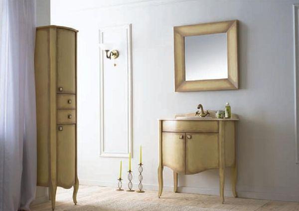Royal Комфорт A(М) 1015 напольная 70A (M)Мебель для ванной<br>Аллигатор Royal Комфорт 70A (М). Цвет 1015 с патиной, покрытие трёхслойное влагостойкое, тонированный лак. Столешница из черного гранита, мрамора крема нова или имперадор лайт, фаянсовая раковина Roca или Gustavsberg. Петли с доводчиками. Размер тумбы: 700х555х850 мм. В комплект поставки входят: тумба, раковина, столешница.<br>