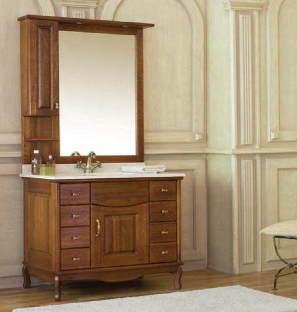 Capan L (D) напольная 100L (D)Мебель для ванной<br>Аллигатор Capan 100L (D). Покрытие трёхслойное влагостойкое, тонированный лак. Столешница из натурального мрамора, фаянсовая раковина Roca или Gustavsberg. Петли со встроенными доводчиками. Размеры тумбы: 1000 x 560 x 850 мм. В комплект поставки входят: тумба, раковина, столешница.<br>