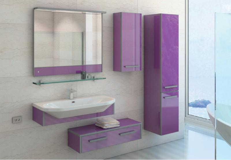 LIFE-CONSOLE 95 подвесна БежеваМебель дл ванной<br>Тумба комплектуетс раковиной FUSION  (SWISS Design)<br>