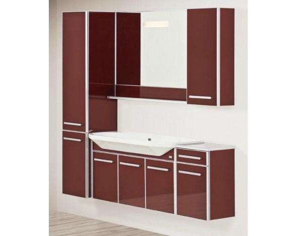 LIFE 80 подвесная КоричневаяМебель для ванной<br>Тумба подвесная, укомплектованная раковиной Fusion. Все комплектующие приобретаются отдельно.<br>