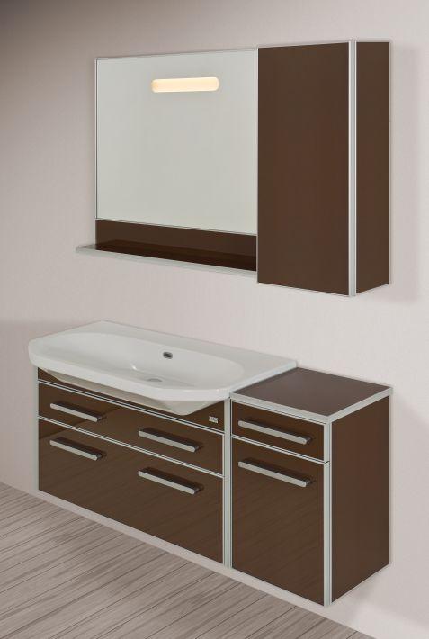 LIFE-ESTRA 80 подвесная БелаяМебель для ванной<br>Тумба подвесная, укомплектованная раковиной Fusion. Все комплектующие приобретаются отдельно.<br>
